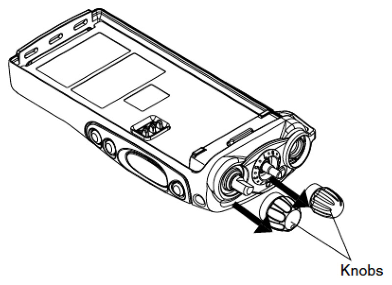 Motorola GP340 & GP344 Knob Removal