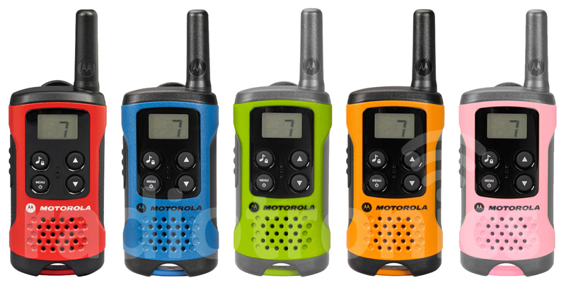 Motorola TLKR T40 & T41 Multi-Coloured Radios