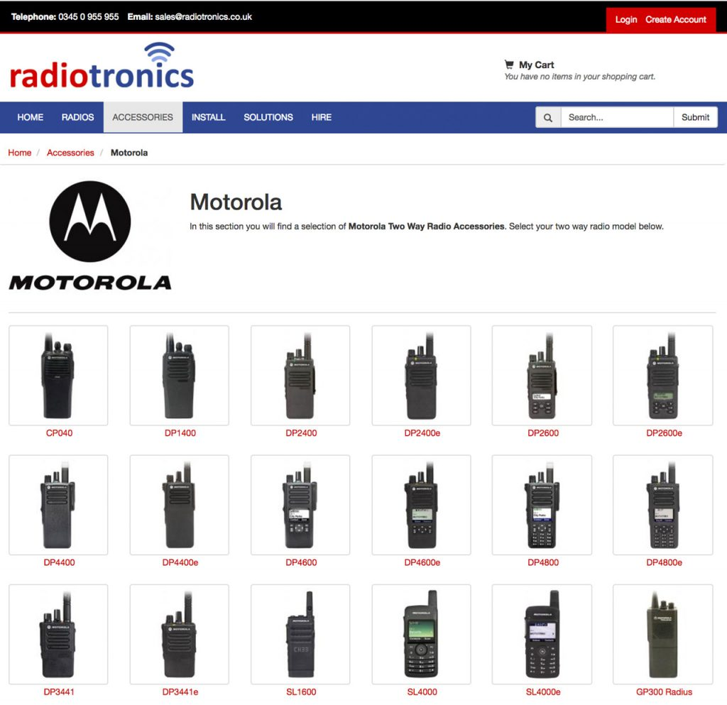 Motorola Two Way Radio Accessories