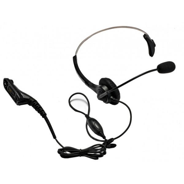 Motorola DP4400e DP4600e DP4800e Headset + PTT / VOX & Boom Microphone PMLN5974A