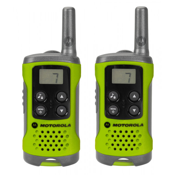 Motorola TLKR T41 Green Walkie Talkie Radio Twin Pack