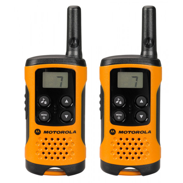 Motorola TLKR T41 Orange Walkie Talkie Radio Twin Pack