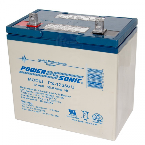 PowerSonic PS-12550 55Ah 12v SLA Battery