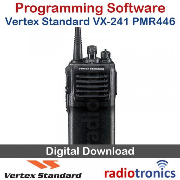 Vertex Standard CE-141 VX-241 PMR446 Programming Software Download