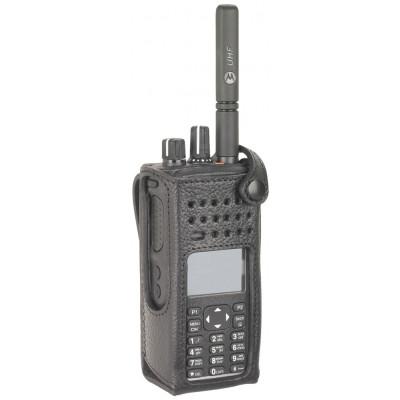 "Motorola DP4600/e & DP4800/e 3"" Fixed Belt Loop Leather Case"