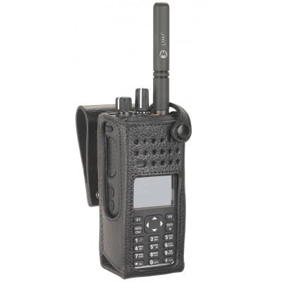 "Motorola DP4600/e & DP4800/e 3"" Swivel Belt Loop Leather Case"