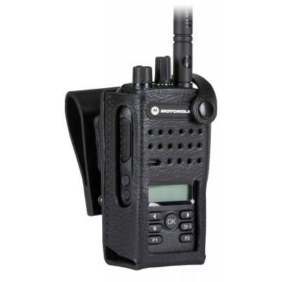 "Motorola DP2600 Leather Carry Case w/ 3"" Fixed Belt Loop"