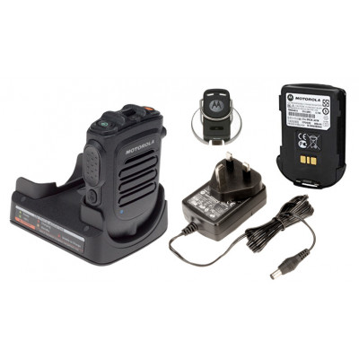 Motorola GMLN5504A Wireless Remote Speaker Microphone With Battery, Charger & Belt Clip