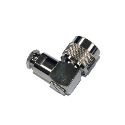 Radiotronics NPRACS195 Right Angle N-Type Male Crimp Connector (LMR195 Cable)