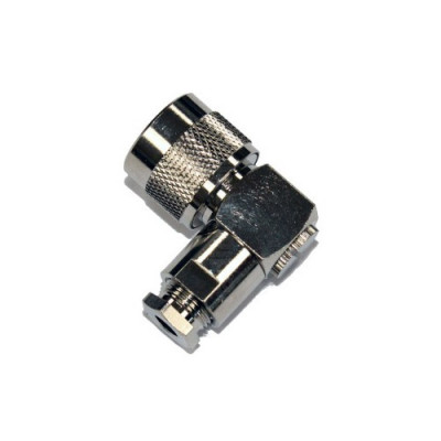 Radiotronics NPRACS5801 Right Angle N-Type Male Solder Clamp Connector (RG58 Cable)