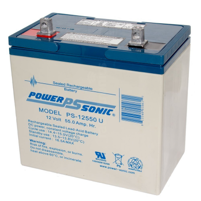 PowerSonic PS-12550 55Ah 12v SLA Battery