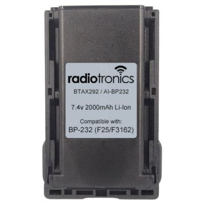 Radiotronics AI-BP232 Icom BP232 Compatible Battery
