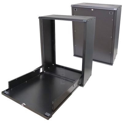 Wall Mount Fold-Away & Lockable 2U Rack Mount Cabinet