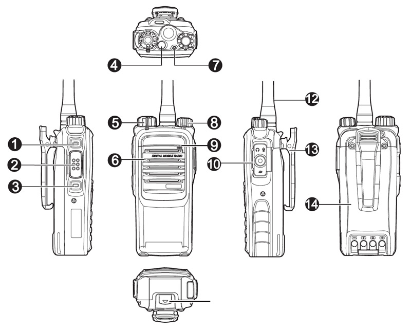 Hytera PD795Ex Diagram