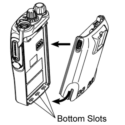 GP340 Battery Slots