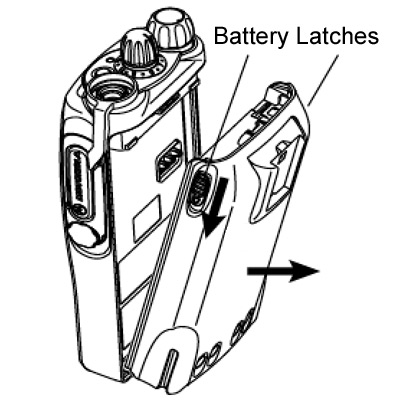 GP340 Battery Latches