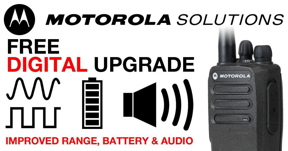 Free Digital Upgrade - Motorola DP1400